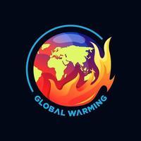 Global warming logo vector