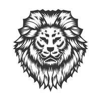 Lion Head design on white background. Lion Head Line Art logos . vector