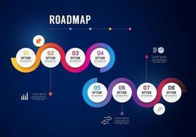 Infographics roadmap Concept Design options banner. vector