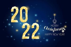 Wireframe Merry Christmas 2022 luxury gold geometry Concept Design. vector