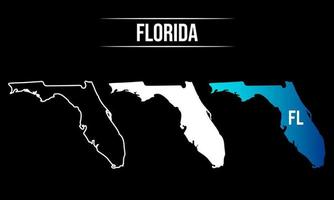 Abstract Florida State Map Design vector