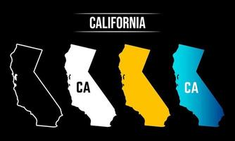 Abstract California State Map Design vector