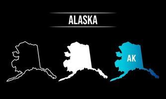 Abstract Alaska State Map Design vector