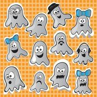 Halloween set - vector illustration with funny pictures