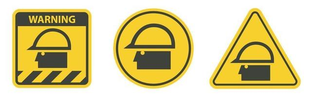 Caution Sign Wear Protective Equipment,With PPE Symbols vector
