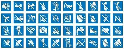 Prohibition sign on white background vector
