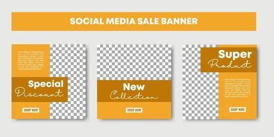 sale social media post design templates vector set, backgrounds