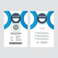 Corporate id card template vector