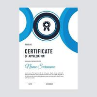 Certificate template design layout vector