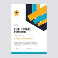 Certificate template awards diploma background vector