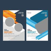 Corporate Business Flyer cover design layout shape vector