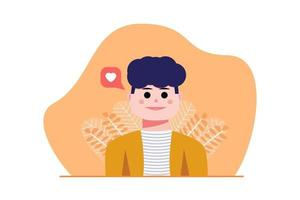 male character illustrations get followers vector