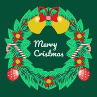 Vector Christmas happy new year flat icon