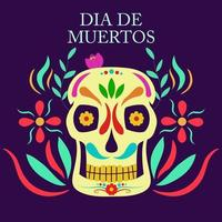 El dia de Muertos, Mexican Day of Dead vector