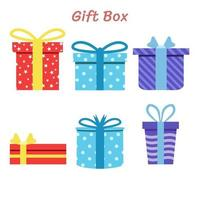 Vector illustration Gift boxes