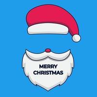 santa merry christmas mask vector