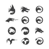 Head Dragon illustration vector