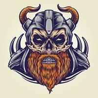 Viking Military Horned Helmet vector