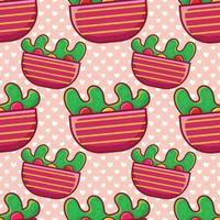 salad food seamless pattern illustration vector