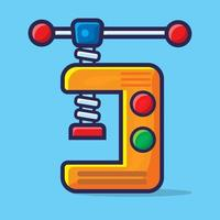 vise construction tool isolated cartoon illustration in flat style vector