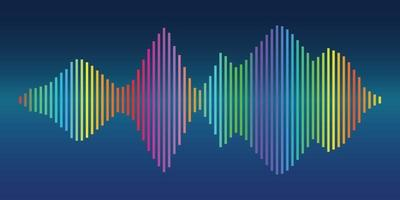 Colorful sound wave background vector