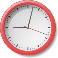 Modern red frame clock vector