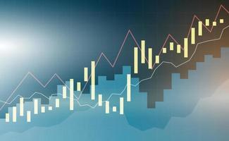 Background illustration of financial and investment techniques graph vector