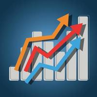 Business finance and investment growth concept icon vector