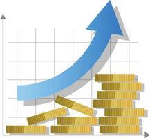 Money growth concept icon vector