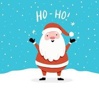 Christmas card design template with cute character with text. vector