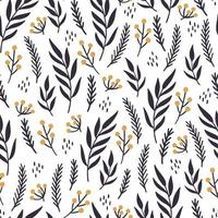 Christmas floral seamless pattern illustration. vector