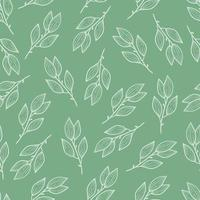 Seamless floral pattern of simple leaf vector
