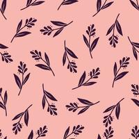 Hand drawn seamless pattern of simple floral vector