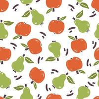 Seamless pattern of simple fruit vector