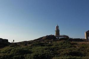 Corrubedo lighthouse in the Atlantic Ocean, Galicia, spain photo