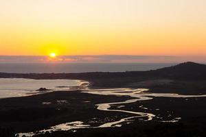 Mouth of the Artes River in the Atlantic Ocean in Galicia. photo