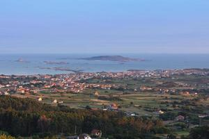 View of the village and beach of Vilar, Galicia, Spain photo