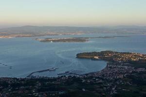 General view of the Ria de Arosa in Galicia, spain photo