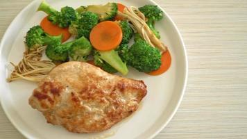 grilled chicken steak with vegetables video