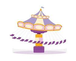 Carousel semi flat color vector object
