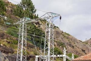 Small electric towers for power transmission photo
