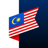 malaysia corner flag icon vector