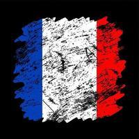 france flag grunge brush background vector