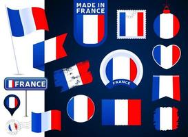 france flag vector collection