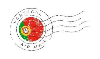 Portugal marca postal vector
