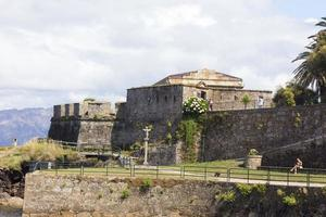 General view of the castle in the town of Finisterre, Galicia, Spain photo