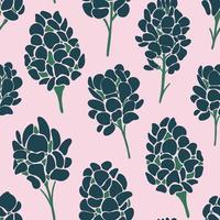 patrón sin costuras imprimible contemporáneo con pincel abstracto lila vector