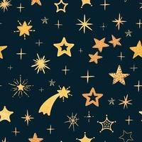 Modern colorful seamless background with star shape vector