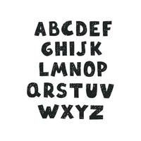 Cute alphabet for kids. Can be used as elemets for your design vector