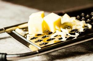 Grated Parmesan cheese, Cheese grater with cheddar photo